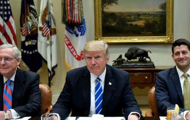 Trump throws Senate Majority Leader underneath a health caring train