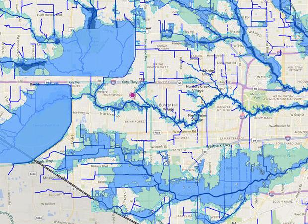 泛滥平原,地图的休斯顿,texas.jpg