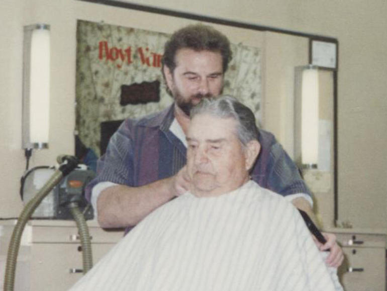 David Leath at the barber shop