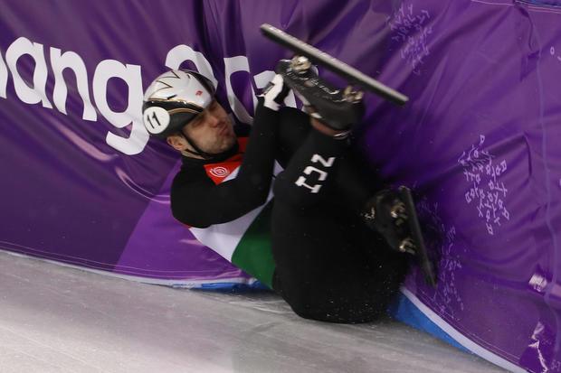 Winter Olympics wipeouts