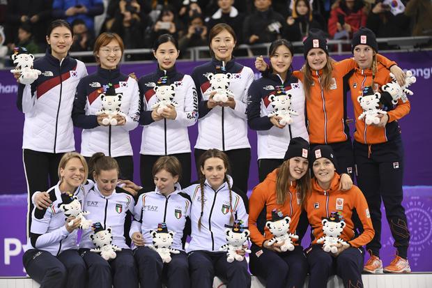 冬季运动会2018年女子3000米接力赛