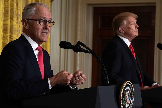 特朗普总统与澳大利亚总理特恩布尔举行联合新闻发布会