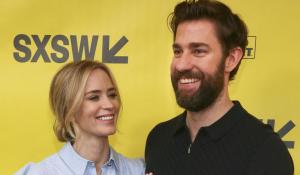 """John Krasinski & Emily Blunt find """"A Quiet Place"""" together"""