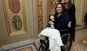 10-day-old Maile Pearl becomes first infant allowed on Senate floor