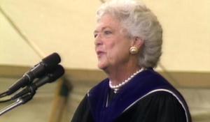 Douglas Brinkley on Barbara Bush's classic commencement speech at Wellesley