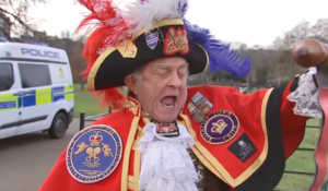 Royal town crier is a regular -- and unofficial -- fixture