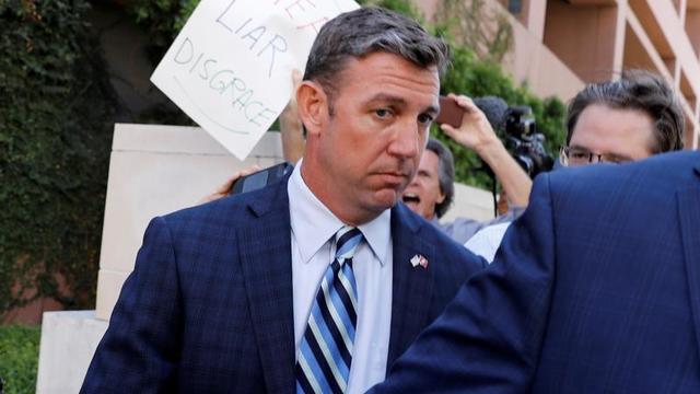 Congressman Duncan Hunter (R-CA) leaves court following his arraignment at federal court in San Diego,
