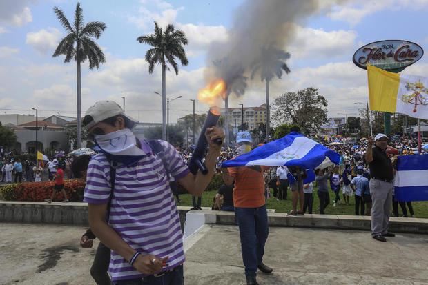 尼加拉瓜耶稣受难节抗议活动