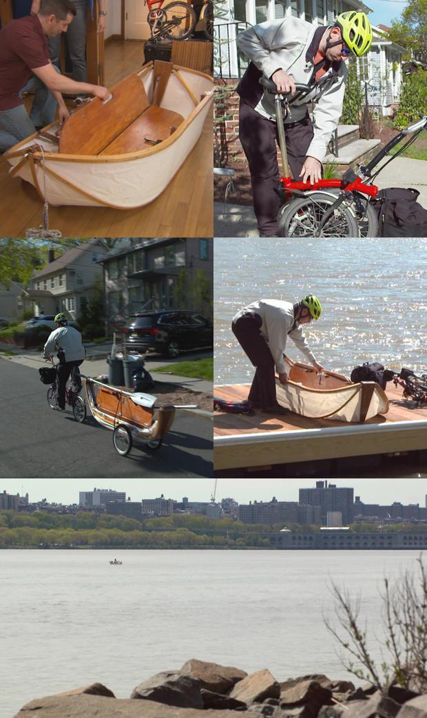 离奇的,通勤,汤米 - 鲁兹 - 和他的折叠船和自行车-620-tall.jpg
