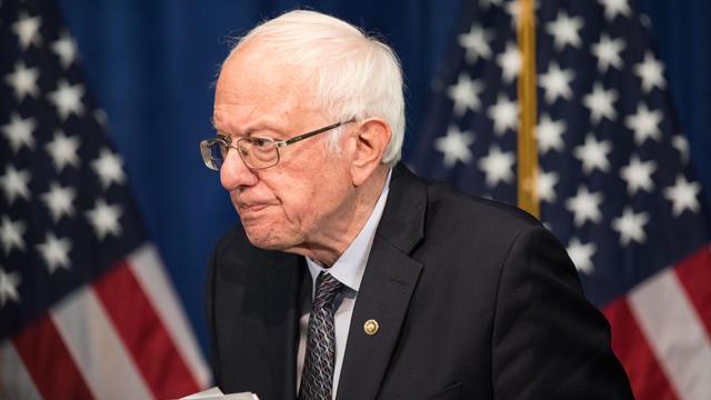Democratic Presidential Candidate Sen. Bernie Sanders Speaks To The Media In Burlington, Vermont