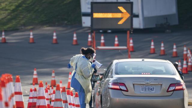 Drive Through Coronavirus Testing Site Opens In Arlington, VA