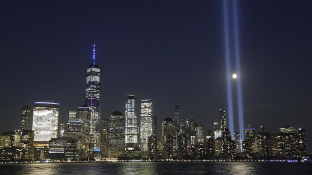 Tribute in Light Marks the 18th Anniversary of the 9/11 Attacks in New York City