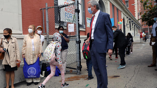 New York City School Children Return To In-Person Classes