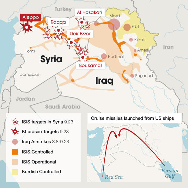 ISIS shifts resources in Syria as airstrikes continue near Iraq and