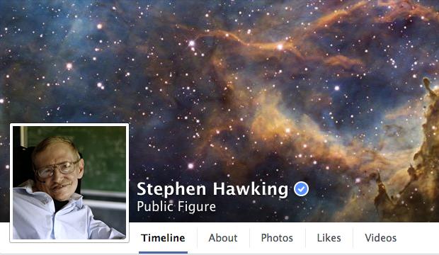 stephen hawking facebook page