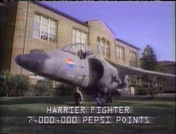 1996: Man sues Pepsi for not giving him the Harrier Jet from