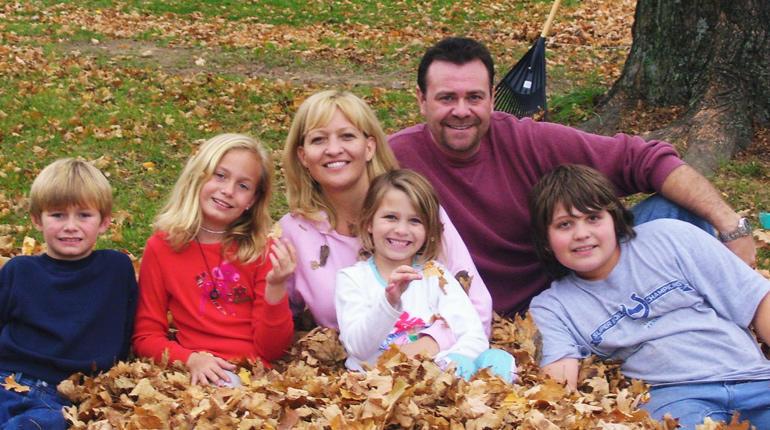 Anita Smithey, Robert Cline and their children