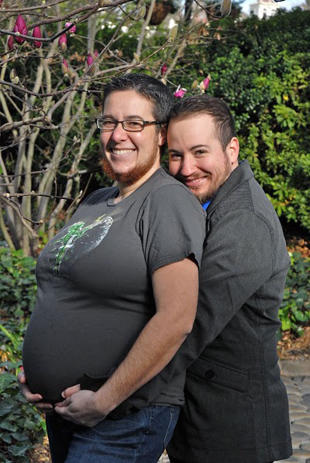 Male transsexual pregnant