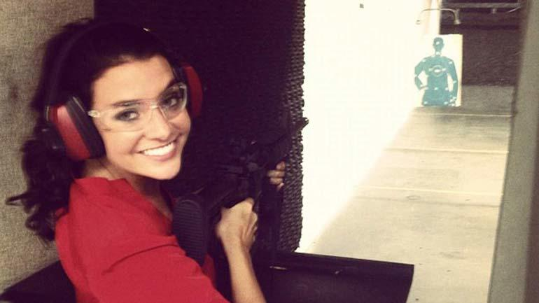 Shayna at target practice