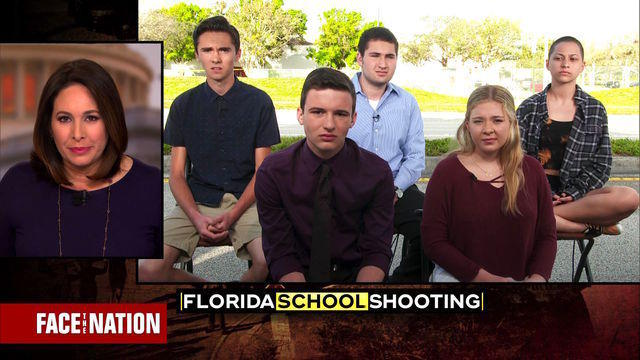 Image result for Images of 5 Florida students interviewed with Face the Nation