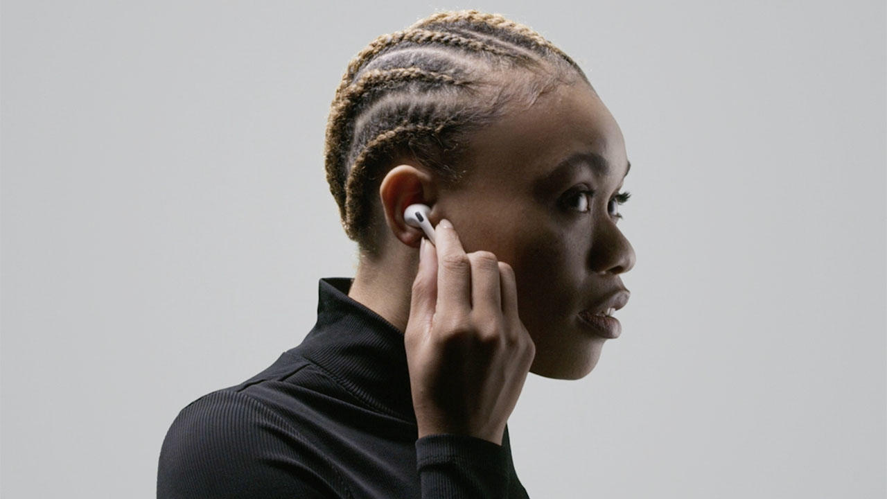 Woman wearing Apple AirPods Pro