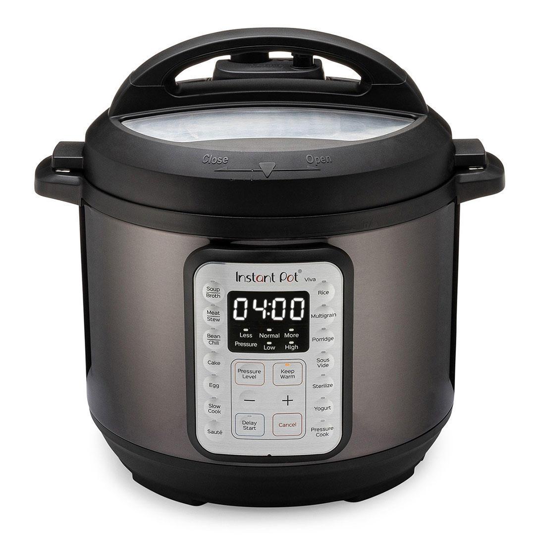 Instant Pot Viva Black Multi-Use 9-in-1 6 Quart Pressure Cooker