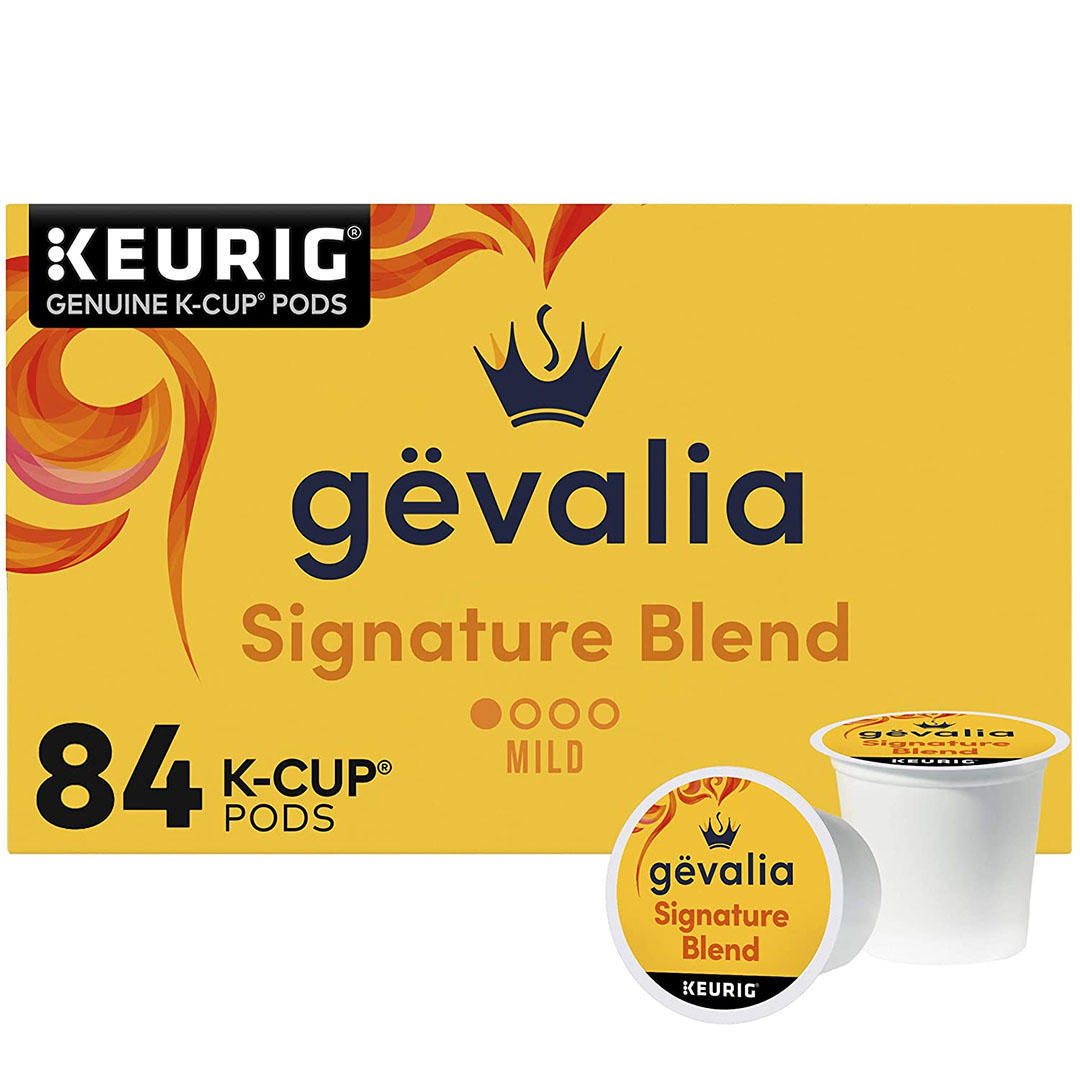 GEVALIA Signature Blend Coffee, Mild, K-CUP Pods, 84 Count