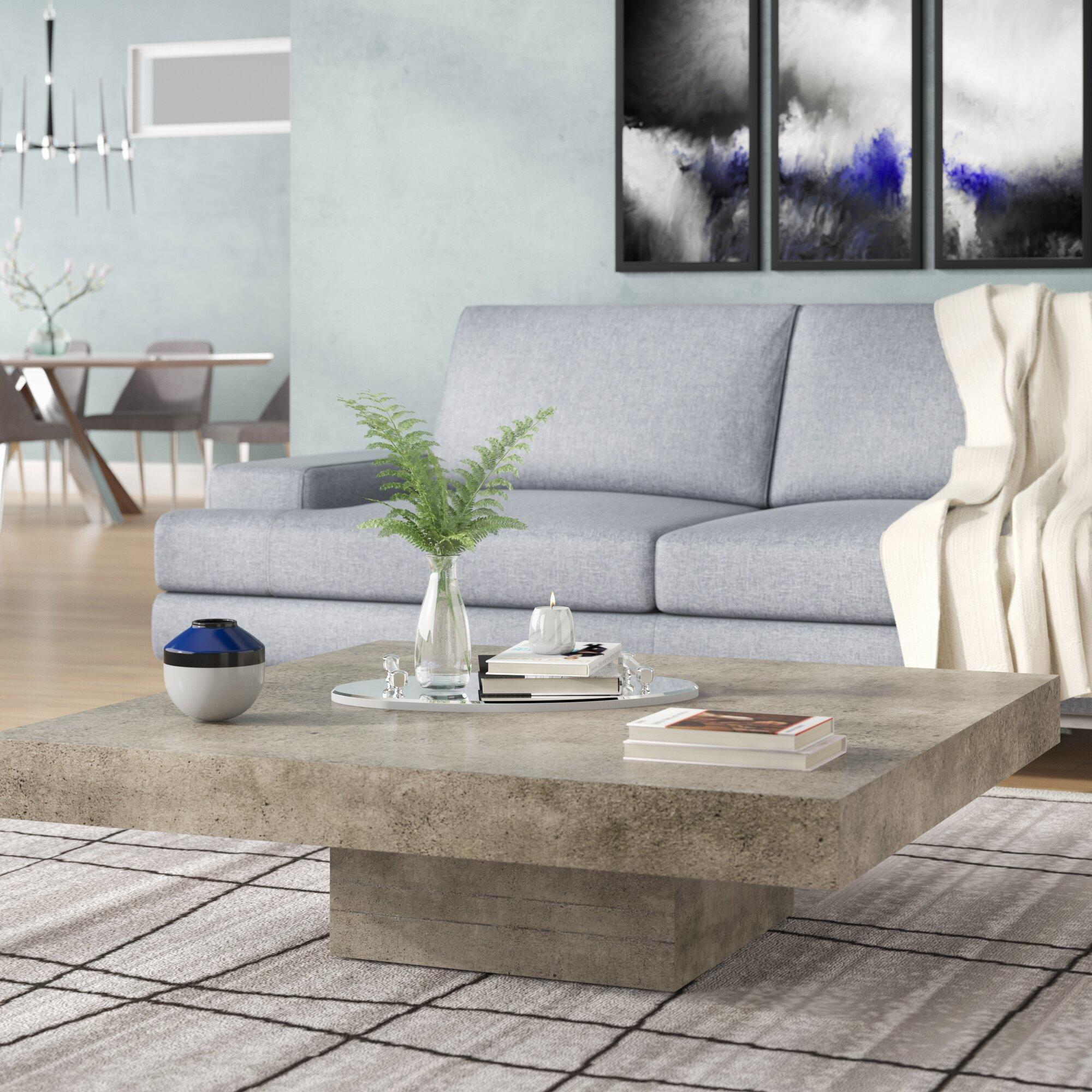 Lipscomb pedestal coffee table
