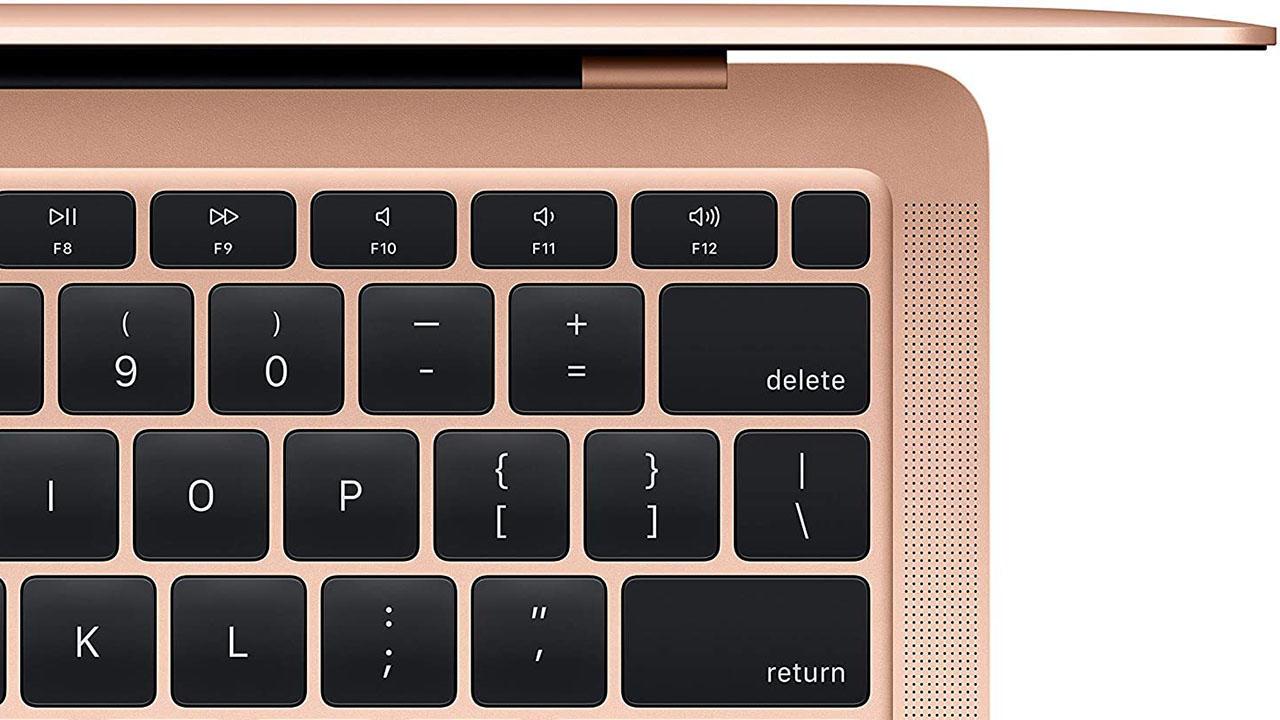 Apple Macbook Air in Rose Gold keyboard shot