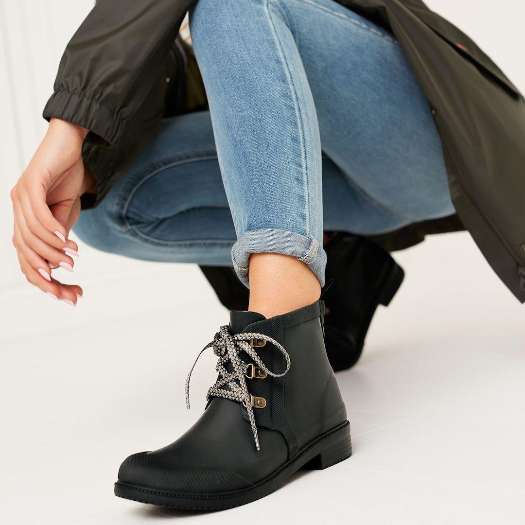 Joules Ashby premium lace up Chelsea boots
