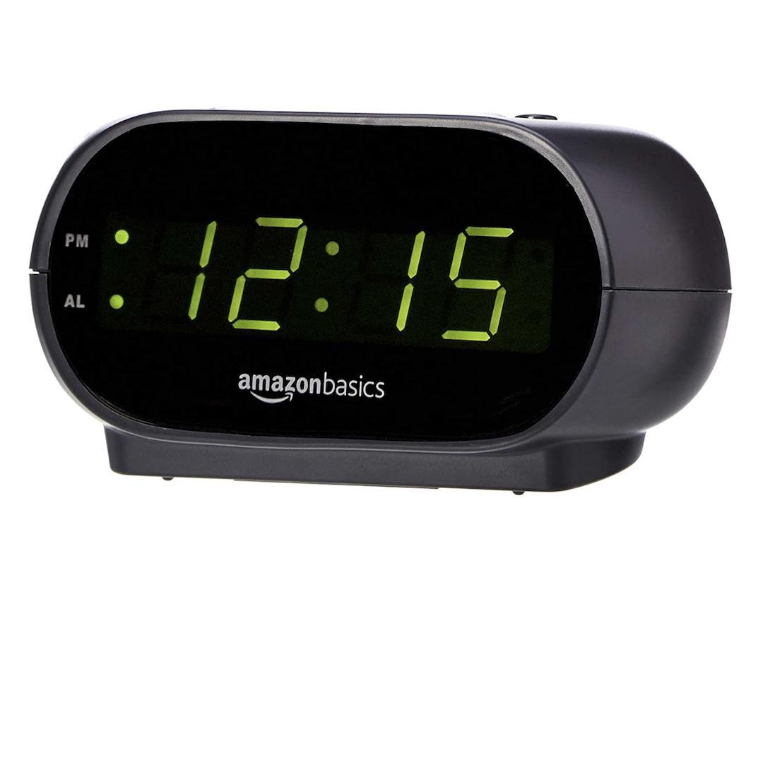 Amazon Basics small digital alarm clock