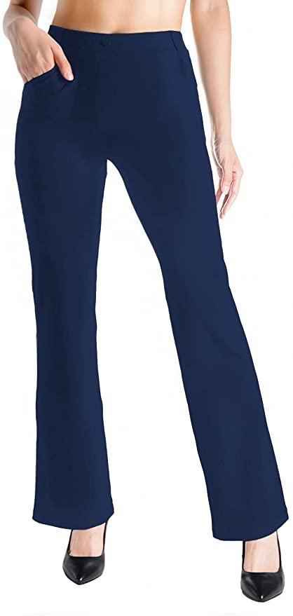 Soft boot-cut dress pants