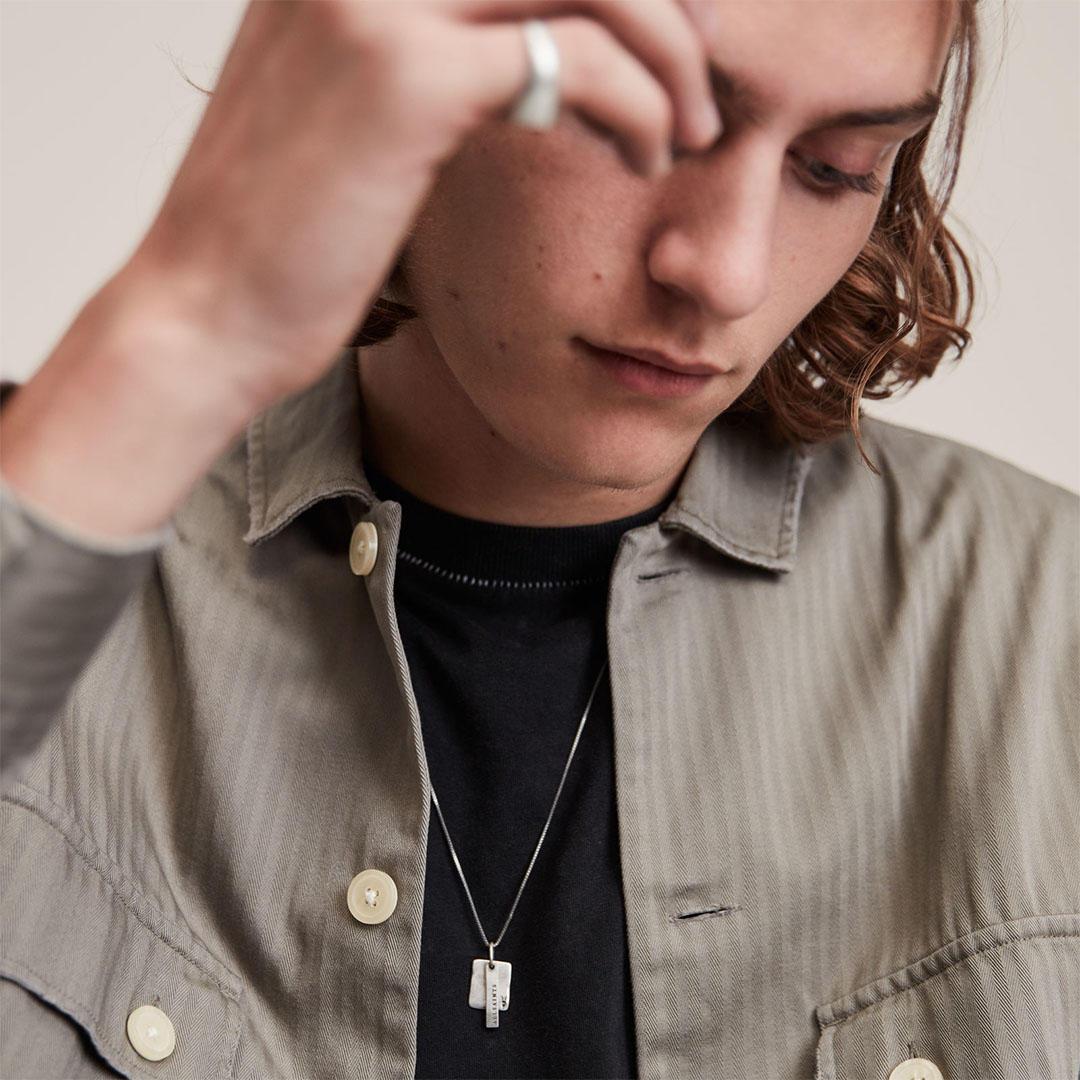 AllSaints silver necklace