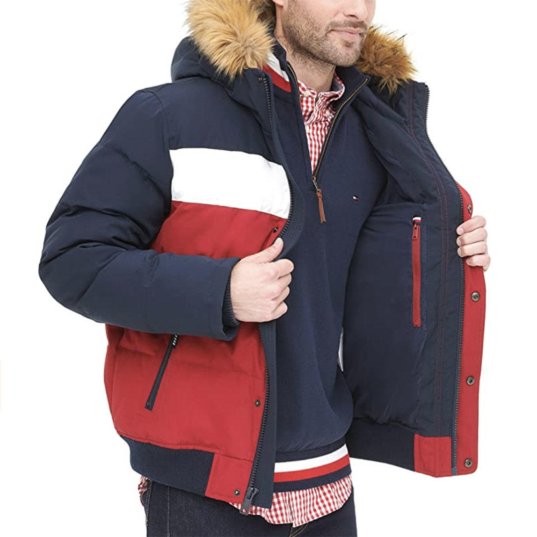 Tommy Hilfiger quilted bomber