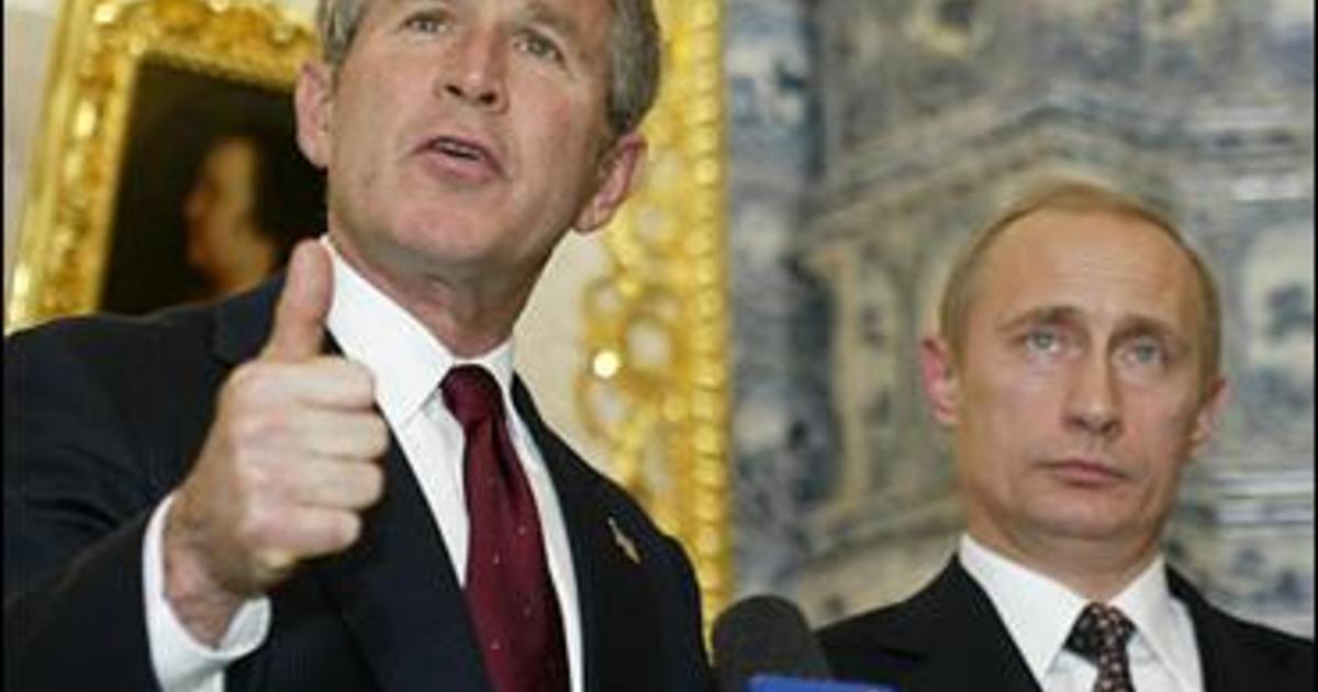 Putin To Bush Don T Go It Alone Cbs News