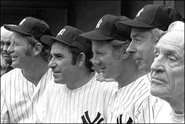 Yogi Berra through the years