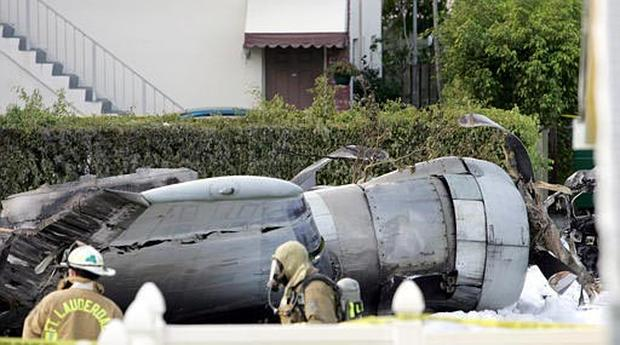 Plane Crashes On Street