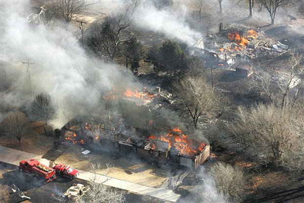 Fires Flare In Texas & Oklahoma