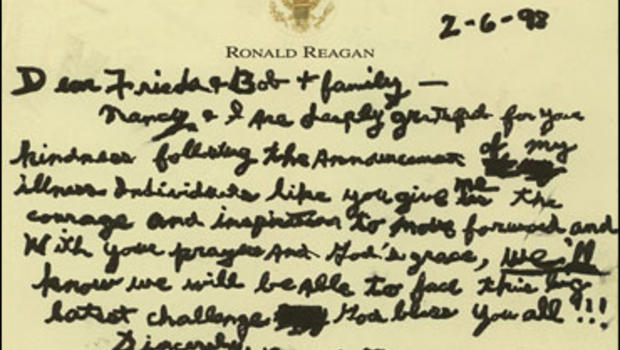 Rare Reagan Letter Being Auctioned CBS News