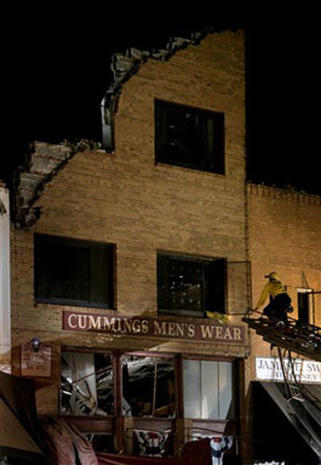 Elks Club Roof Collapse
