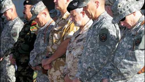 US soldiers in Iraq pay tribute for Sept. 11