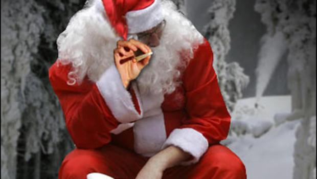 Santa Claus Smoking Weed