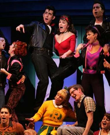 "Curtain Goes Up On ""Grease"""