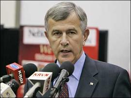 Agriculture Secretary Mike Johanns speaks in Grand Island, Neb., Friday, Sept. 14, 2007.