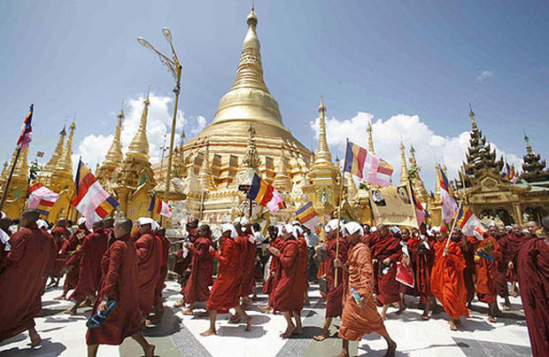 Myanmar Monks March