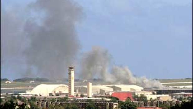 B-52 Stratofortress Crashes And Burns At Andersen Air