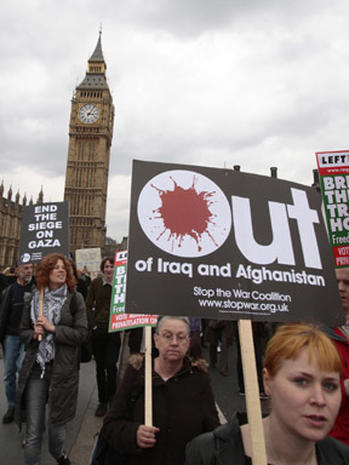 Protests Mark Five Years Of War
