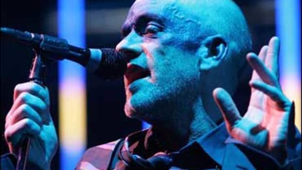 Michael Stipe of R.E.M. performing in Oberhausen, Germany