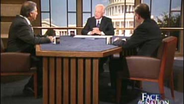 Joe Trippi and Roger Simon with Bob Schieffer