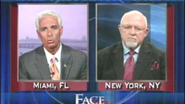 """Gov. Charles Crist, R-Fla., and Republican strategist Ed Rollins on """"Face The Nation"""""""